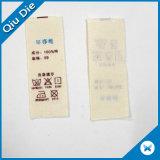 Contrassegno di cura stampato Terylene molle lavabile fatto a mano di cura