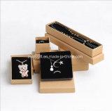 Schwarzer Papierschmucksache-Geschenk-Kasten/Halsketten-Kasten mit Kappe