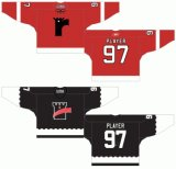 Customized Quebec Grande Liga de Hóquei Jr Quebec Remparts 1997-2012 Hóquei no Gelo Jersey