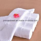 100% coton blanc pur luxe Serviette de haute qualité fait sur mesure