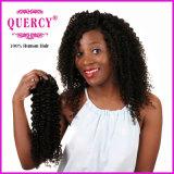 最上質の卸し売りアフリカのねじれた巻き毛の人間の毛髪100%の加工されていない未加工エチオピアのバージンの毛