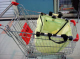 Saco de compras de compras dobráveis para troles de supermercado e carrinho de compras