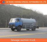 Dongfeng 4X2 8000L Abwasser-Absaugung-LKW-Vakuumabsaugung-LKW