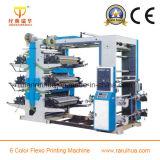 Impresora flexográfica de papel del color de la velocidad 6
