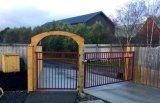 Ворота и стальной линейки складной конструкции решетки ограждения