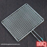 Barbacoa portable del Bbq del acero inoxidable que asa a la parilla el acoplamiento de la cesta con la maneta del metal