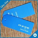 Alta qualidade elegante Hangtag de reposição impresso para a roupa/bagagem