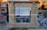 Sculpté à la main de haute qualité Antique cheminée en marbre travertin (sy-MF376)