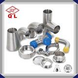 Adaptador de tubulação de diâmetro diferente de aço inoxidável sanitário