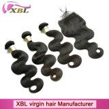 ブラジルボディ波のバージンの自然な人間の毛髪の拡張