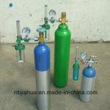 cilindro ad alta pressione della bombola per gas del CO2 dell'elio dell'argon dell'idrogeno dell'azoto dell'ossigeno dell'acciaio senza giunte di 150bar /200bar CNG