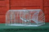 Plegable de la jaula trampa para animales / recubrimiento de polvo de Trampa jaula plegable