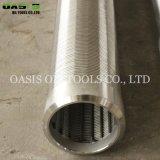 SUS304 SUS316 Draht-Punkt-Rohr/kerbte v-Keil-Draht-Bildschirm-Gefäß/Wasser-Quellfilter