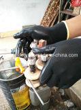 Jauge 13 Cinda Polyester enduit à base de nitrile Gants de travail industriels