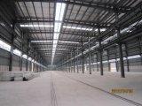 Estrutura de aço pré-fabricada para troca de oficina de estrutura de armazém / aço