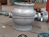 DIN/ГБ Литые стальные Pn16 DN600 для газа цапфу шарового клапана