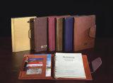Geschenk High-Endcompany mit ledernem Tagebuch/Schlüsselketten-Kalender-Mappe