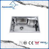 Topmount único recipiente de acero inoxidable fregadero de cocina (AEC6054)