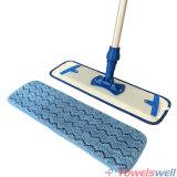 Microfiberの床の平らなモップのパッドをごしごし洗う波