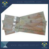 Bilhete de cupão de segurança de papel de fibra