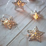 10 серебряная звезда работать от батареи светодиод волшебная фонари