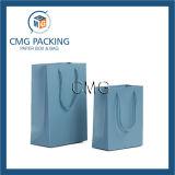 Saco de papel de presente de laminação mate de impressão azul (DM-GPBB-138)