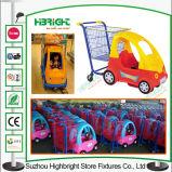 プラスチック金属のスーパーマーケットは子供の買物車をからかう