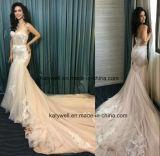 Vestido nupcial do vestido de casamento da sereia do laço das senhoras da forma de China