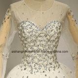 長い袖のウェディングドレスの贅沢でセクシーな花嫁衣装のウェディングドレス