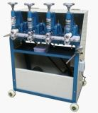 단화 만들기를 위한 사륜 접착시키는 기계