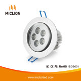 De aluminio de 5W+PC Downlight LED con CE