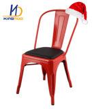 Estilo industrial que cena la silla determinada de Australia Tolix de los muebles del metal de las sillas de los bistros del café de la cara del asiento del bronce de madera elegante casero BRITÁNICO del negro