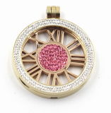 Venta caliente flotante de acero inoxidable Colgante Collar Medallón Bisutería
