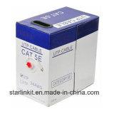순수한 구리 Cat5e 이더네트 네트워크 케이블 빨강 4 쌍 24AWG UTP