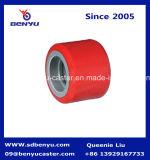 Хорошие колеса красного цвета тележки паллета руки полиуретана емкости нагрузки