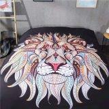 Дешевые комплекты постельных принадлежностей льва печати полиэфира 3D Microfiber рождества