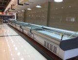 Les viandes fraîches avec rideau d'air du refroidisseur d'affichage pour le supermarché/butcher shop