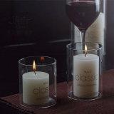 Mund-Glasflaschen-Kerze-Halter mit Kerze öffnen
