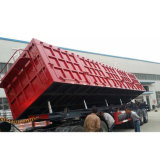يؤيّد ثلاثة محور العجلة شاحنة قلّابة تخليص صندوق مقطورة