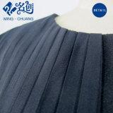 Черный воротник Rear-Zipper Yarn-Mesh круглый моды Дамы платье с Waist-Line