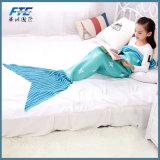 Прелестно ребенок акриловое одеяло Mermaid Анти--Pilling