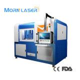 Machine de découpage de laser de fibre d'Enlcosed de 6090 couvertures mini