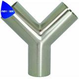 De sanitaire Verzamelleiding van Segent Triclover van het Roestvrij staal met de Vrouwelijke adapter van Draden