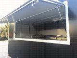 車輪のハンバーガーの停止のGelatoのカートの製造業者が付いているステーキの食堂車