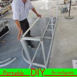 Fácil de aluminio fijar el soporte de la exposición