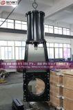 Valvola a saracinesca della lama dei residui dell'ANSI con il doppio azionatore pneumatico
