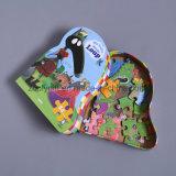 포장 책에 의하여 형성된 선물 상자를 인쇄하는 아이 수수께끼를 주문을 받아서 만드십시오