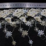 Одежные принадлежности Net пряжи цветок вышивка кружево свадебные платья ткань из текстиля