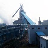 Transporteur de courroie vers l'avant Inclinaison de Chine / Système de convoyeur de ciment / équipement de transport