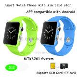 キャンデーカラーSIMのカードスロットG11が付いているスマートな腕時計の電話